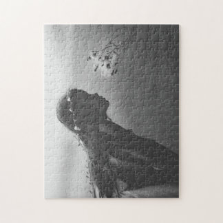 Zwart-witte Figuurzaag Legpuzzel