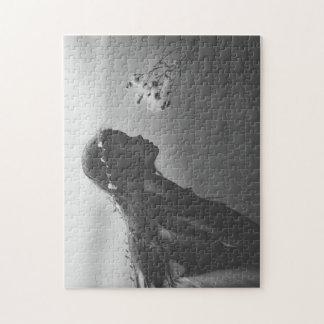 Zwart-witte Figuurzaag Puzzel