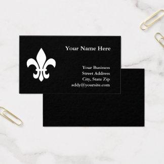 Zwart-witte Fleur DE Lis Visitekaartjes