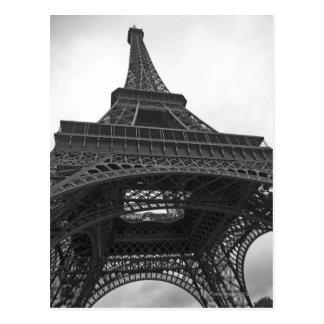 Zwart-witte foto van de Toren van Eiffel Briefkaart
