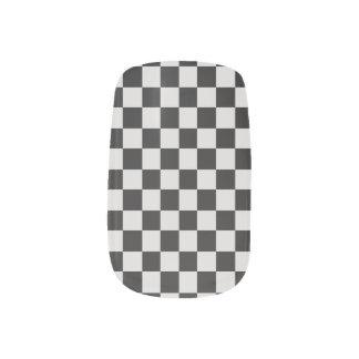 Zwart-witte Gecontroleerde Minx Spijkers Minx Nail Art