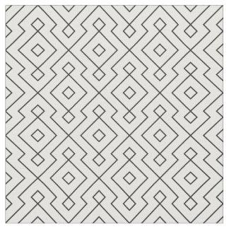 zwart-witte geometrische patroon moderne druk stof