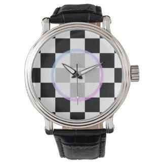 Zwart-witte Geruit Horloges