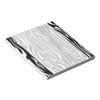 Zwart-witte Gestreepte strepen dierlijke druk Notitieblok
