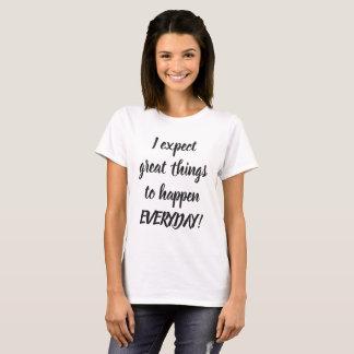Zwart-witte Grote Citaten T Shirt
