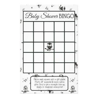 Zwart-witte het baby showerspelen van Themed van Folder