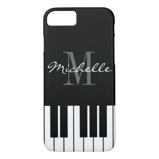 Zwart-witte het monogramiPhone 7 van pianosleutels iPhone 8/7 Hoesje