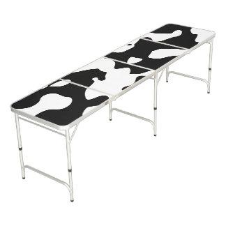 Zwart-witte het Patroon van de koe Beer Pong Tafel