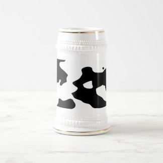 Zwart-witte het Patroon van de koe Bierpul