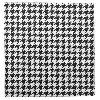 Zwart-witte het Patroon van Houndstooth Servet