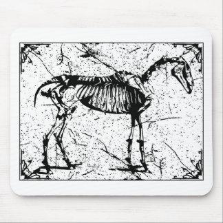 Zwart-witte het Skelet van het paard Muismat