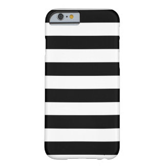 Zwart-witte Horizontale Strepen Barely There iPhone 6 Hoesje