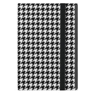 Zwart-witte Houndstooth iPad Mini Hoesje