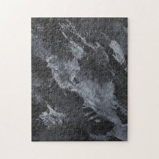 Zwart-witte Inkt op Zwarte Puzzel