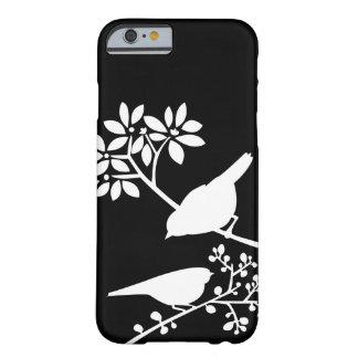 Zwart-witte iPhone 6 van de Douane van Vogels hoes Barely There iPhone 6 Hoesje