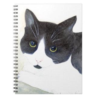 Zwart-witte Kat Notitieboek