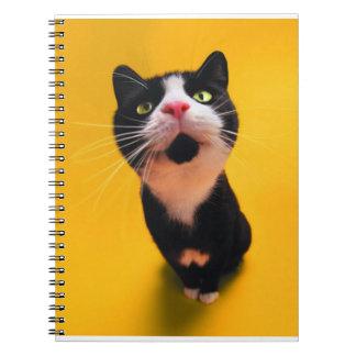 Zwart-witte kat-smoking kat-huisdier notitieboek