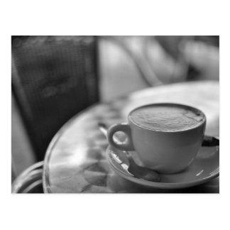 Zwart-witte Koffie Briefkaart