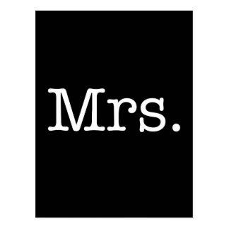 Zwart-witte Mevr. Wedding Anniversary Quote Briefkaart