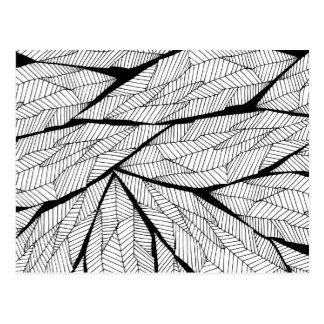 Zwart-witte Moderne Abstracte Geometrische Briefkaart