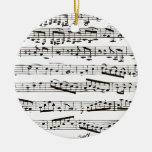 Zwart-witte muzieknoten ornamenten
