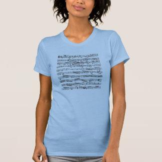 Zwart-witte muzieknoten t shirt