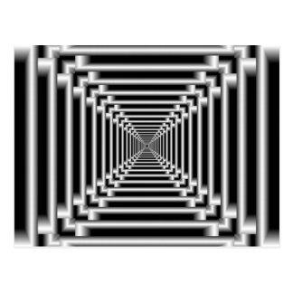 Zwart-witte Optische illusie Briefkaart