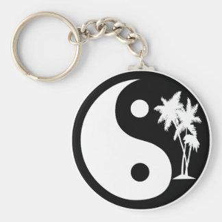 Zwart-witte Palm Yin Yang Keychain Sleutelhanger
