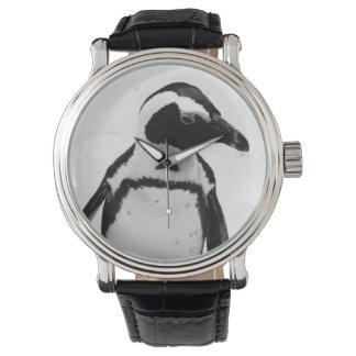 Zwart-witte Pinguïn Horloge