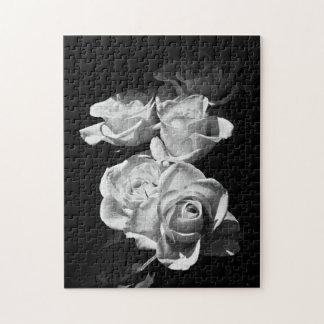 Zwart-witte rozen foto puzzels