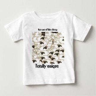 zwart-witte schapentroep baby t shirts