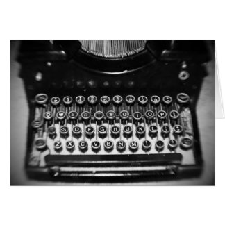 Zwart-witte Schrijfmachine Kaart