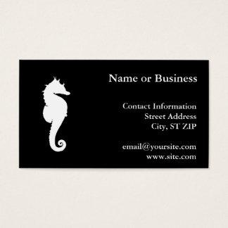 Zwart-witte Seahorse Visitekaartjes