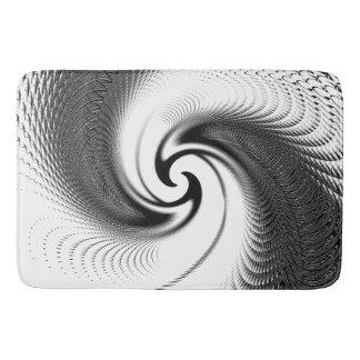 Zwart-witte Spiraal Badmat