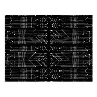 Zwart-witte Stammen Briefkaart