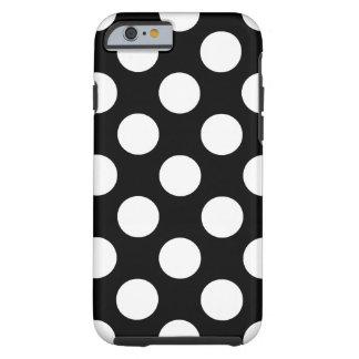 Zwart-witte Stip Tough iPhone 6 Hoesje