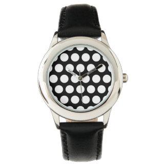 Zwart-witte Stippen Horloge