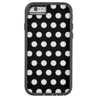 Zwart-witte Stippen Tough Xtreme iPhone 6 Hoesje