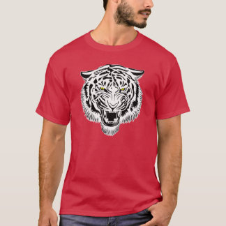 Zwart-witte Tijger 1 T Shirt