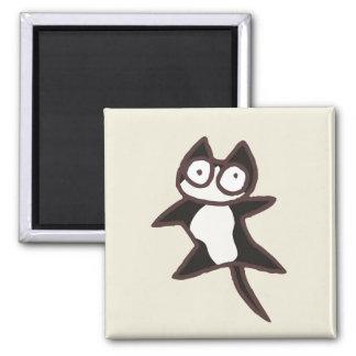 Zwart-witte Tweekleurige Kat Magneet