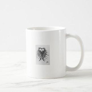 Zwart-witte Uil van de Krabbel van de jaren '80 Koffiemok