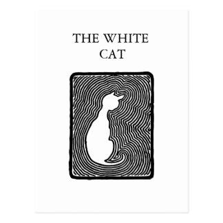 Zwart-witte vectorkunst de Witte sjabloon van de Briefkaart