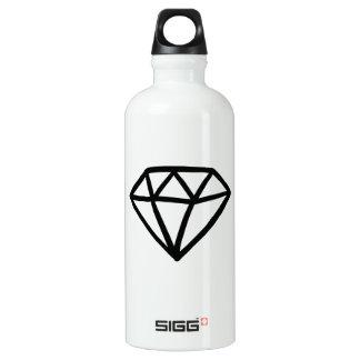 Zwart-witte versie van diamant waterfles