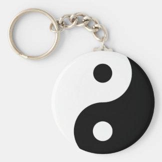 Zwart-witte Yin Yang Keychain Sleutelhanger