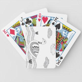 Zwart-witte zwaankrabbel pak kaarten