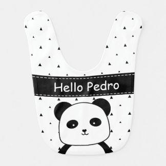 Zwart-witte Zwart-wit het babyjongen van de Panda Baby Slabbetje