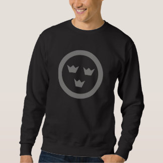 Zwart Zweeds Overhemd Roundel Trui