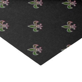 Zwarte Achtergrond met Fleur DE Lis Tissuepapier