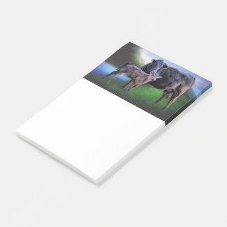 Zwarte Angus Cow en Kalf Post-it® Notes