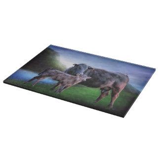 Zwarte Angus Cow en Kalf Snijplank